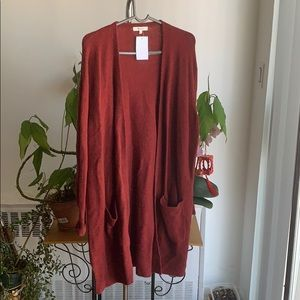 NWT Madewell Kent burgundy red cardigan medium